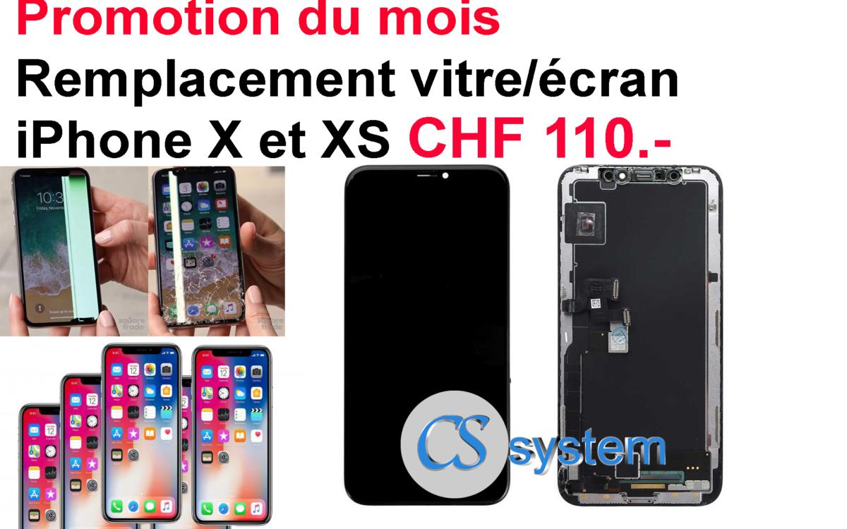 remplacement vitre écran iphone x et xs
